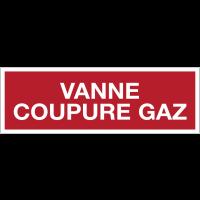 Panneaux de sécurité incendie avec texte - Vanne coupure gaz