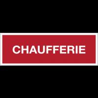 Panneaux de sécurité incendie avec texte - Chaufferie