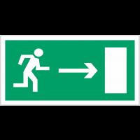 """Panneaux d'évacuation haute résistance """"Homme qui court, flèche à droite"""""""