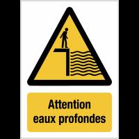 Panneaux de signalisation autour des quais - Attention eaux profondes