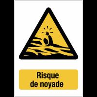 """Panneaux de signalisation autour des quais """"Danger, risque de noyade"""""""