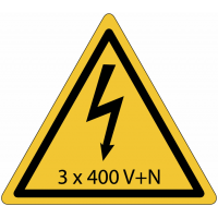 Panneaux de danger électrique - 3x400 V+N