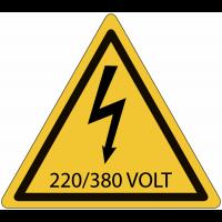 Panneaux de danger électrique - 220 / 380 V