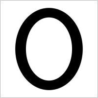 """Plaques signalétiques colorées adhésives """"Chiffre 0"""""""