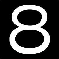 """Plaques signalétiques colorées adhésives """"Chiffre 8"""""""