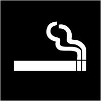 """Plaques signalétiques colorées adhésives """"Autorisation de fumer"""""""