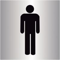 """Plaques signalétiques colorées adhésives """"Toilettes homme"""""""
