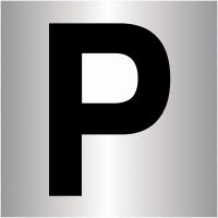 """Plaques signalétiques colorées adhésives """"Places de parking"""""""