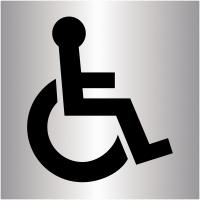 """Plaques signalétiques colorées adhésives """"Handicapés"""""""