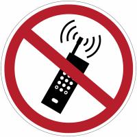 """Autocollants recto/verso pour vitres """"Interdiction d'activer des téléphones mobiles"""""""