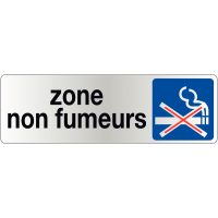 Signalétique de porte - Zone non fumeurs