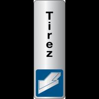 Signalétique de porte verticale - Tirer pour ouvrir