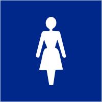"""Signalétique d'information murale ou en drapeau """"Toilettes femme"""""""