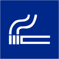 """Signalétique d'information murale ou en drapeau """"Autorisation de fumer"""""""