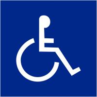 """Signalétique d'information murale ou en drapeau """"Handicapés"""""""