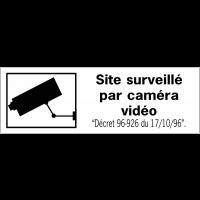 Panneaux de dissuasion - Site surveillé par caméra vidéo