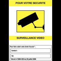 """Panneaux de vidéosurveillance """"Site sous surveillance vidéo"""" et zone """"Contact"""""""