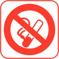 """Autocollants d'information transparents """"Interdiction de fumer"""""""