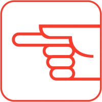 """Autocollants d'information transparents """"Direction à suivre"""""""