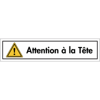 "Bandes autocollantes ""Danger général - Attention à la tête"""