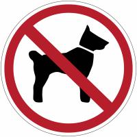 """Planches d'autocollants d'interdiction """"Interdit aux chiens"""""""