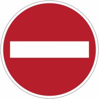 """Planches d'autocollants d'interdiction """"Sens interdit"""""""