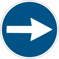 """Planches d'autocollants d'obligation """"Flèche directionnelle orientable"""""""
