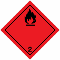 "Signalisation de transport international ""Gaz inflammables"""