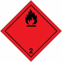 """Signalisation de transport international """"Gaz inflammables"""""""