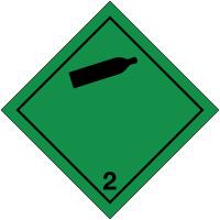"""Signalisation de transport international """"Gaz non-inflammables et non-toxiques"""""""