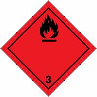 "Signalisation de transport international ""Liquides inflammables"""
