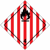 "Signalisation de transport international ""Solide inflammable"""