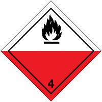 "Signalisation de transport international ""Spontanément inflammable"""