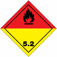 "Signalisation de transport international ""Peroxydes organiques"""