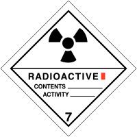 "Signalisation de transport international ""Matières radioactives, catégorie I"""