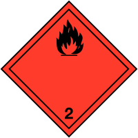 "Etiquettes de signalisation de transport international ""Gaz inflammables"""