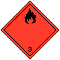"Etiquettes de signalisation de transport international ""Liquides inflammables"""