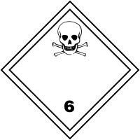 "Etiquettes de signalisation de transport international ""Matières toxiques"""