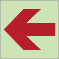 """Panneaux d'incendie photoluminescents emplacement """"Flèche directionnelle 90°"""""""