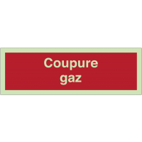 Panneaux de sécurité incendie photoluminescents - Coupure gaz