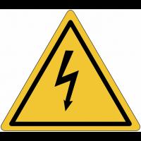 """Autocollants triangulaires de signalisation de """"Danger électricité"""""""