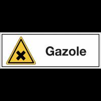 """Panneaux pour stockage de bouteille de gaz """"Matières nocives ou irritantes - Gazole"""""""