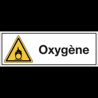 """Signalisation suspendue produits dangereux """"Danger matières comburantes - Oxygène"""""""