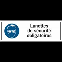 Etiquettes de sécurité - Lunettes de sécurité obligatoires