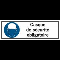 Etiquettes de sécurité - Casque de sécurité obligatoire