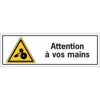 Etiquettes de sécurité - Attention à vos mains