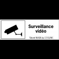 Etiquettes de sécurité - Surveillance vidéo