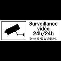 Etiquettes de sécurité - Surveillance vidéo 24h/24h