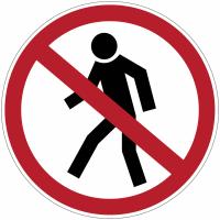 """Panneaux d'interdiction """"Interdit aux piétons"""""""