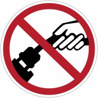 """Panneaux d'interdiction """"Ne pas tirer sur le câble"""""""